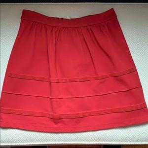 J Crew red flare skirt